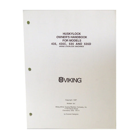 Owner Workbook Pages for Huskylock 234D, 535D