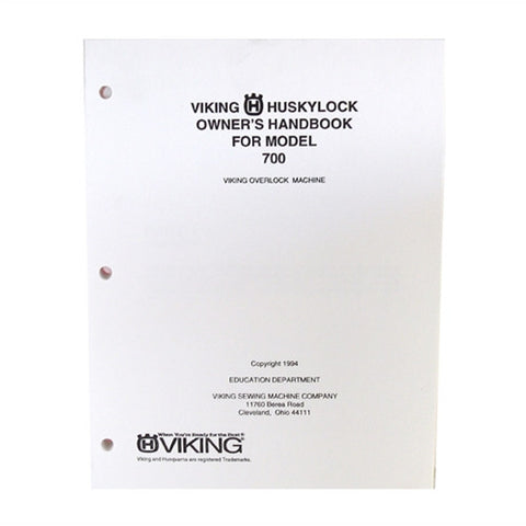 Owner Workbook Pages for Huskylock 700