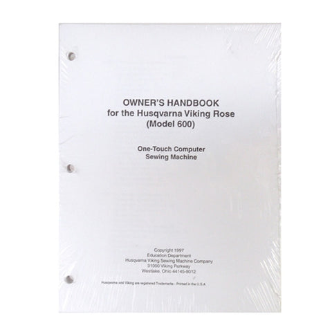 Owner Workbook Pages for Viking Rose 600