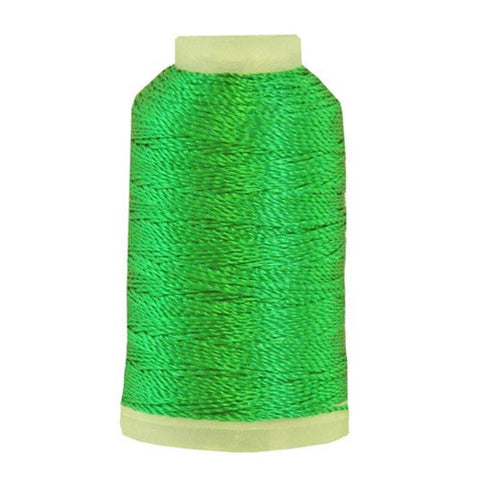 YLI Pearl Crown Rayon in Green, 100yd Spool