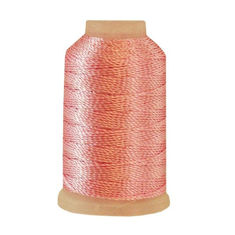YLI Pearl Crown Rayon in Pink, 100yd Spool