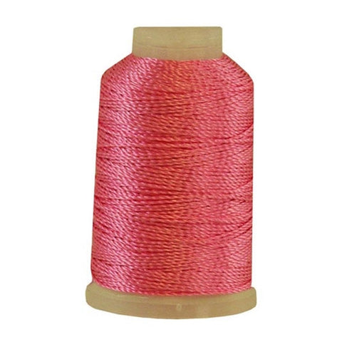 YLI Pearl Crown Rayon in Bright Pink, 100yd Spool