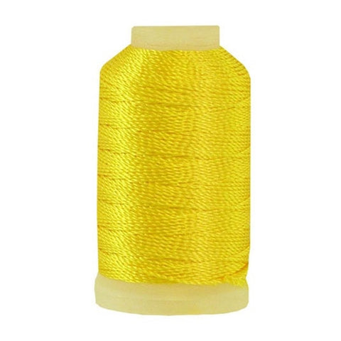 YLI Pearl Crown Rayon in Canary, 100yd Spool