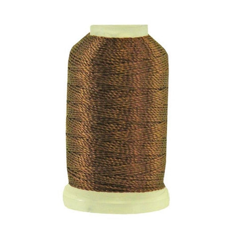 YLI Pearl Crown Rayon in Chestnut, 100yd Spool