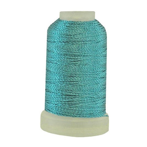 YLI Pearl Crown Rayon in Peacock Blue, 100yd Spool