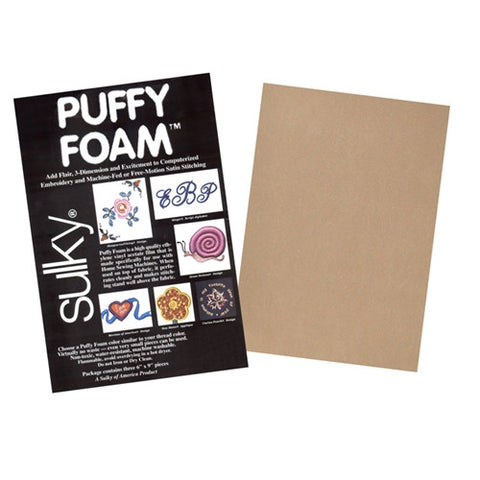 Sulky brand 2mm Puffy Foam in Light Tan