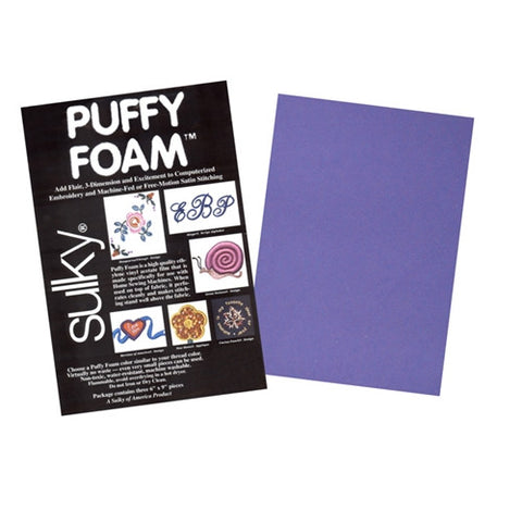 Sulky brand 2mm Puffy Foam in Purple