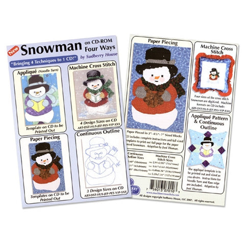 Snowman Four Way Design CD by Sudberry House