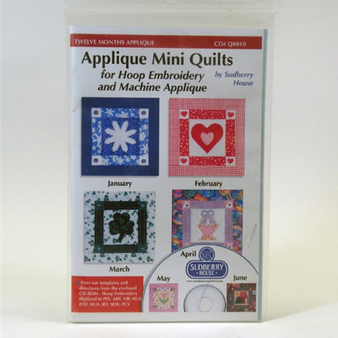 Twelve Month Applique Mini Quilts by Sudberry House
