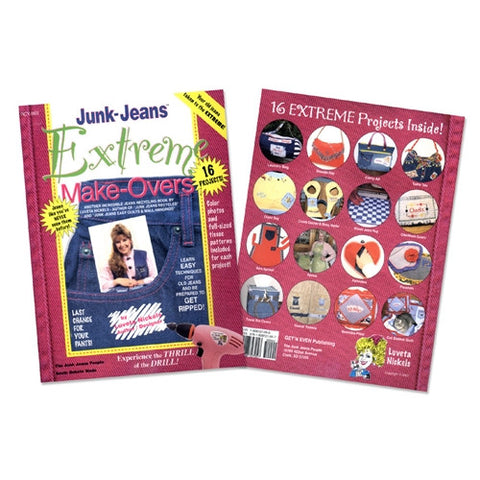 Junk Jeans Extreme Makeover Book with Pattern