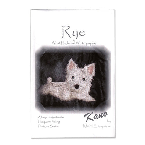Rye West Highland White Puppy Design Disk