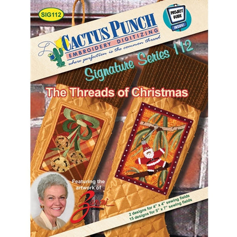 Threads of Christmas Embroidery CD by Cactus Punch