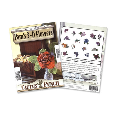 Best of Pam's 3D Flowers Embroidery CD by Cactus Punch