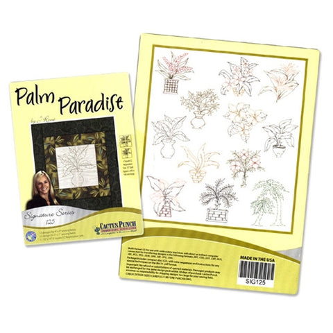 Palm Paradise Embroidery CD by Cactus Punch This multiformat CD has 24 embroidery designs