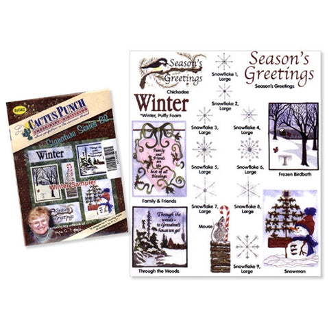Winter Sampler Embroidery CD by Cactus Punch