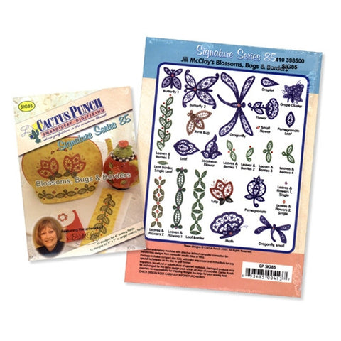 Blossoms, Bugs & Borders Embroidery CD by Cactus Punch