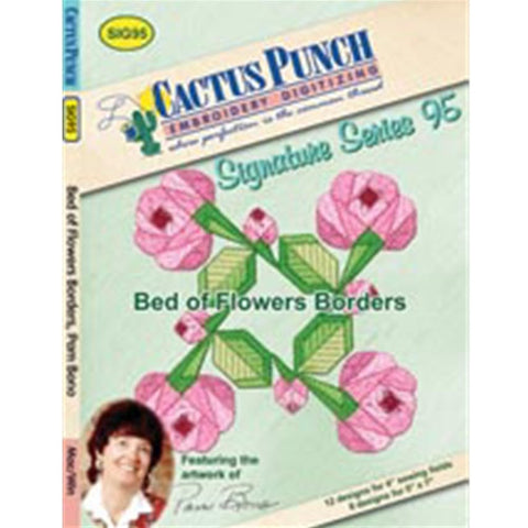 Bed of Flowers Embroidery CD by Cactus Punch