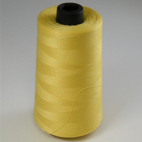Spun Polyester in Yellow, 6000yd Spool