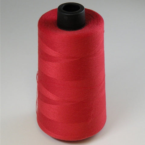 Spun Polyester in Red, 6000yd Spool