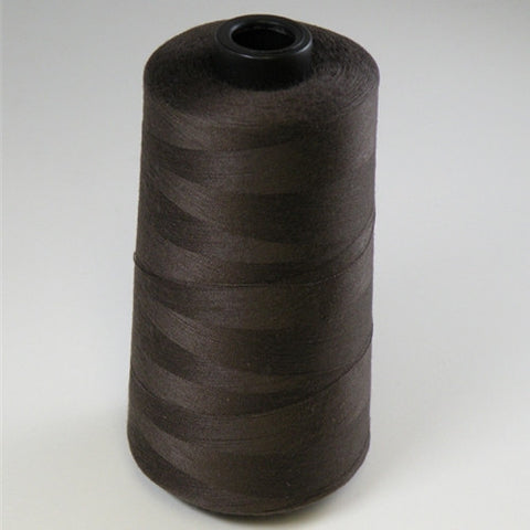 Spun Polyester in Brown, 6000yd Spool