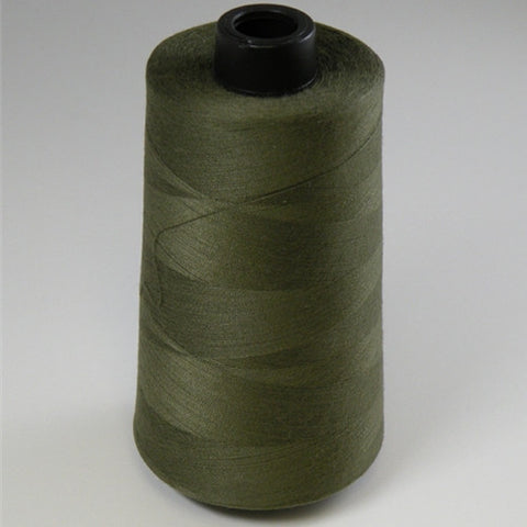 Spun Polyester in Olive, 6000yd Spool