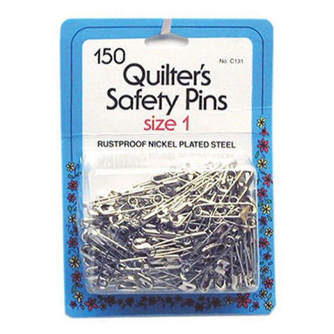 Quilters Safety Pins, Size 1, 150 Count