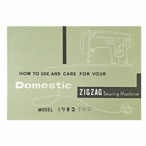 Instruction Book for White 1762 Domestic