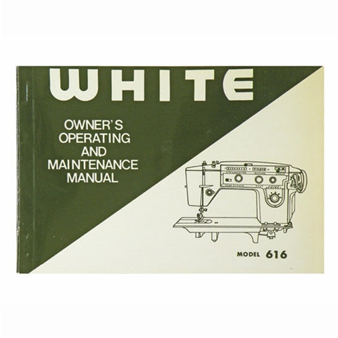 Instruction Book for White 616
