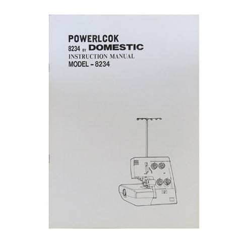 Instruction Book White Serger S34, Domestic 8234