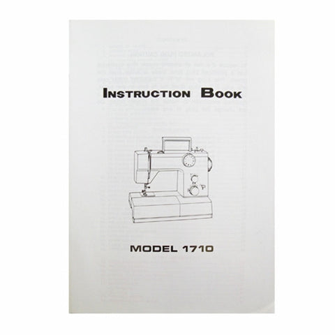 Instruction Book for White 1710