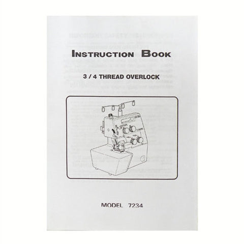 Instruction Book for White Serger 7234