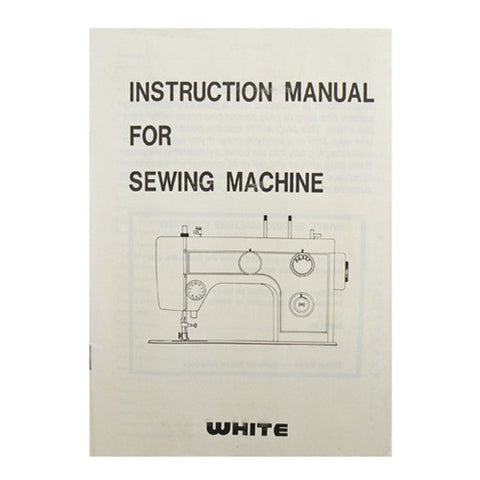 Instruction Book for White 1744 Flat Bed