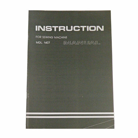 Instruction Book for White 1407
