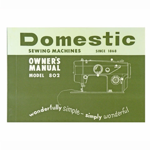 Instruction Book for White 802 Domestic