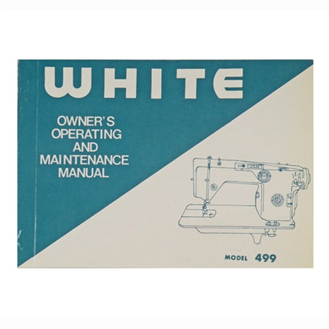 Instruction Book for White 499, 477