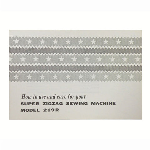 Instruction Book for White 219R