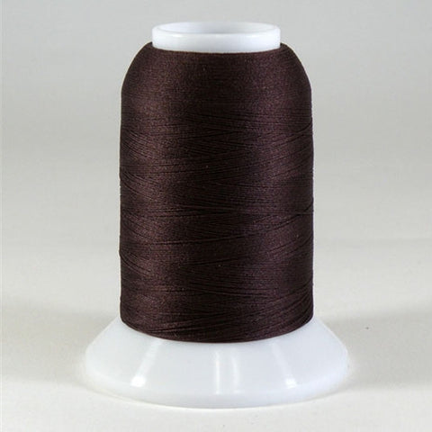 YLI Woolly Nylon in Medium Brown, 1000m Spool