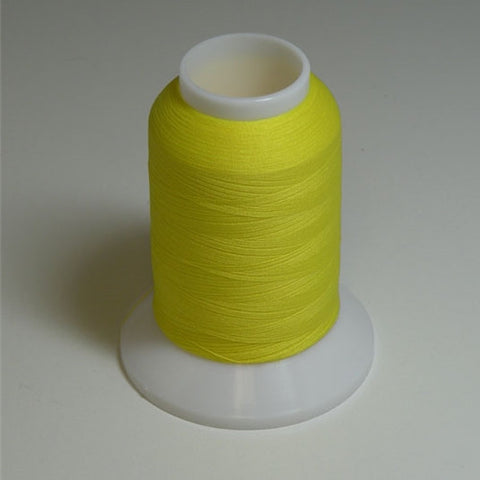 YLI Woolly Nylon in Bright Yellow, 1000m Spool