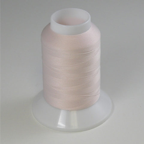 YLI Woolly Nylon in Off White Pink, 1000m Spool