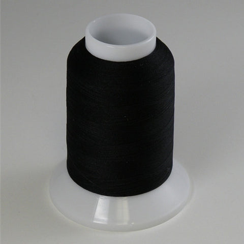 YLI Woolly Nylon in Black, 1000m Spool