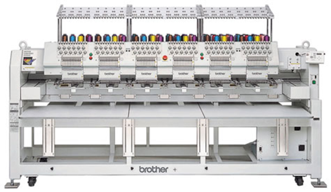 Brother BE-1206B 12 Needle 6 Head Embroidery Machine