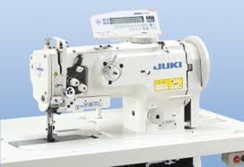 Juki LU-1510N-7 Walking Foot Needle Feed Industrial Sewing Machine & Stand