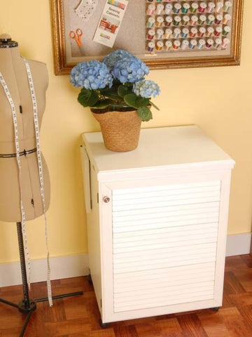 Arrow Sewnatra White Sewing Cabinet