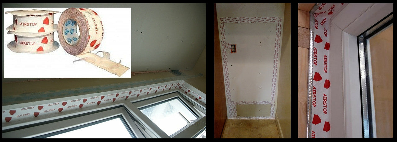 Window air sealing tapes