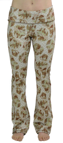 Warrm Fleece Camo Yoga Pants - Desert Diva