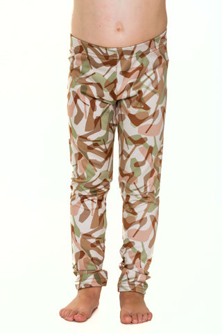 Girls Camo Natural Leggings