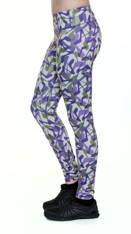 Camo Purple Yoga Leggings