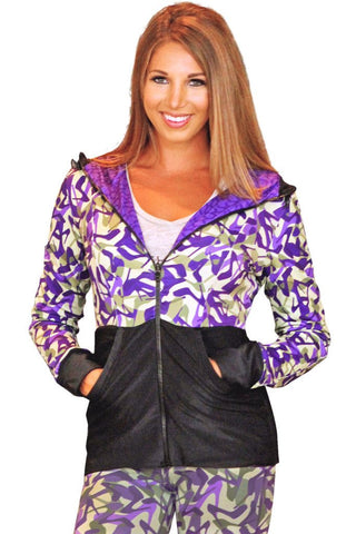Purple Camo Shoe Reversible Hoodie