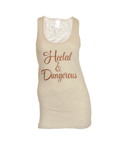 Heeled and Dangerous Long Racerback Tank - Tan