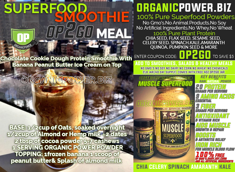 Vegan Cocoa Smoothie Organic Power Superfoods Vegan Muscle Superfood